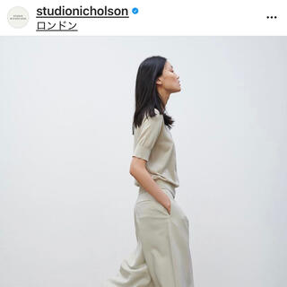 L'Appartement DEUXIEME CLASSE - 美品★STUDIO NICHOLSON スタジオニコルソン クロップドパンツ