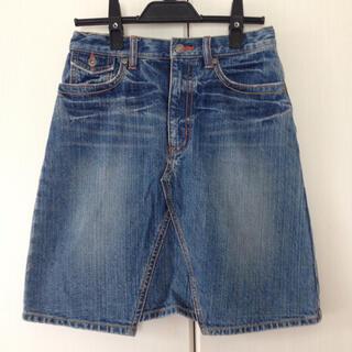 ユニクロ(UNIQLO)のデニムスカート150センチ(ひざ丈スカート)