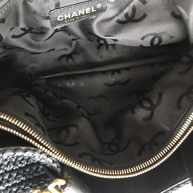 CHANEL(シャネル)の極美品♡シャネル CHANEL カゴバッグ ストローバッグ トートバッグ レディースのバッグ(ショルダーバッグ)の商品写真