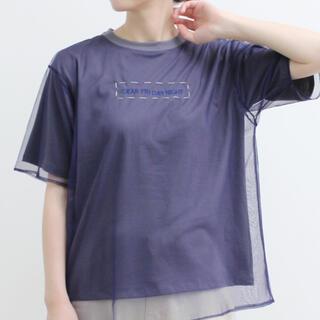 アイアムアイ(I am I)のI am I チュールレイヤードTシャツ(Tシャツ(半袖/袖なし))