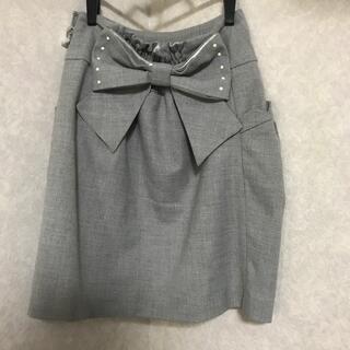 ウィルセレクション(WILLSELECTION)の2wayバックリボンスカート(ひざ丈スカート)