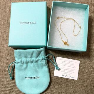 Tiffany & Co. - ティファニー T ダブルチェーン ブレスレット 18Kゴールド AU750