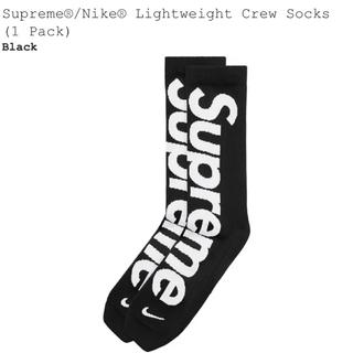 シュプリーム(Supreme)のSupreme × NIKE LightWeight Socks Black(ソックス)