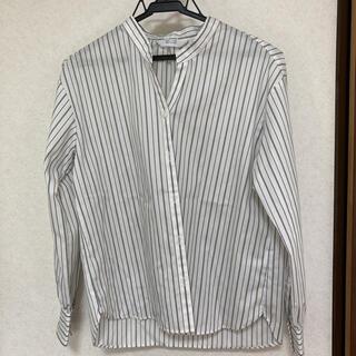 アオヤマ(青山)の③ストライプシャツ バンドカラーシャツ オフィスカジュアル スーツ カットソー(シャツ/ブラウス(長袖/七分))