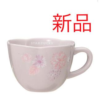 Starbucks Coffee - スターバックス  マグフラワーシェイプパープル 296ml  母の日マグカップ