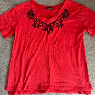 ワンウェイ(one*way)のOneWay   ワンウェイ Vネック 刺繍 Tシャツ(Tシャツ(半袖/袖なし))