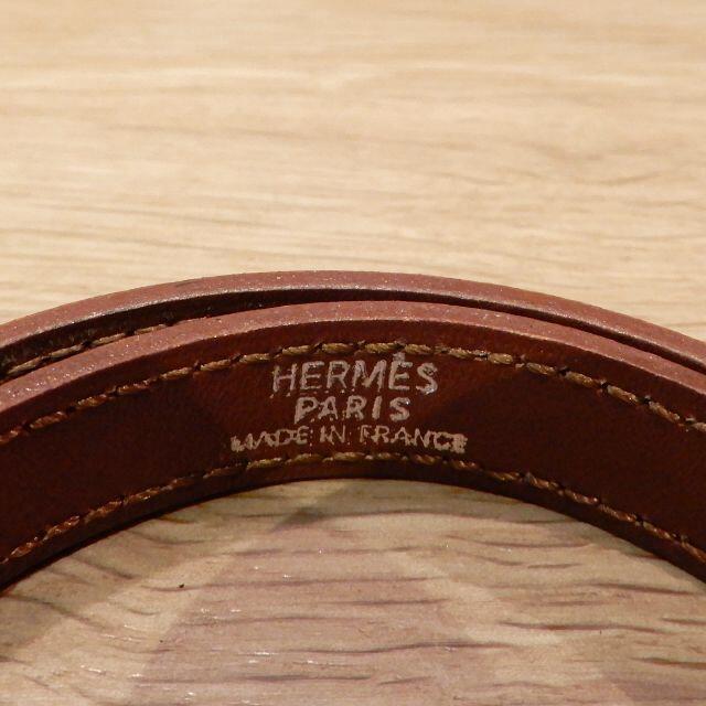 Hermes(エルメス)の超美品 エルメス ケリーブレス ドゥブルトゥール マロン シルバー金具 レディースのアクセサリー(ブレスレット/バングル)の商品写真