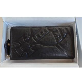 Vivienne Westwood - ☆美品☆ヴィヴィアンウエストウッド オーブ 長財布 ブラック 黒 型押し