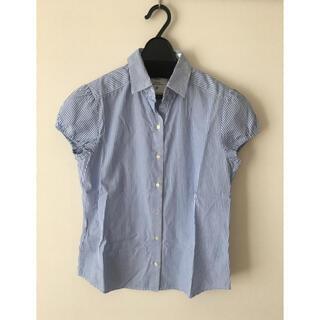 イネド(INED)のイネド   ストライプ 半袖シャツ(シャツ/ブラウス(半袖/袖なし))