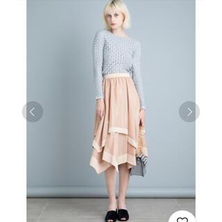 Lily Brown - リリーブラウン 異素材ヘムラインスカート