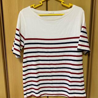 ジーユー(GU)のメンズ GU ボーダー 半袖カットソー M(Tシャツ/カットソー(半袖/袖なし))