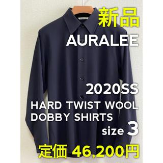 【新品】AURALEE HARD TWIST WOOL DOBBY SHIRTS(シャツ)