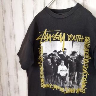 STUSSY - ステューシーSTUSSY 古着フォトTシャツ黒