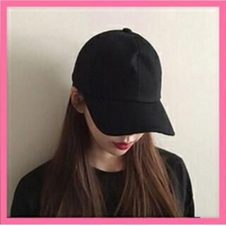 【数量限定】 キャップ ブラック 野球 つば付き 男女兼用 カジュアル 帽子(キャップ)