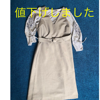 エニィスィス(anySiS)のジャンパースカート シャツ付き(ひざ丈ワンピース)