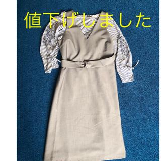 エニィスィス(anySiS)のジャンパースカート シャツ付(ひざ丈ワンピース)