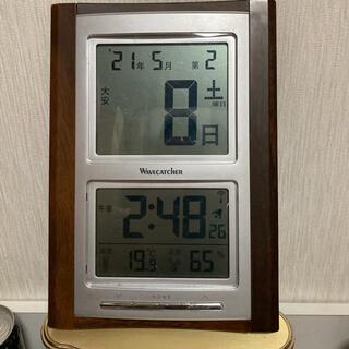 GENTOSジェントス電波デジタル目覚まし時計六曜時計SKR101-BR(置時計)