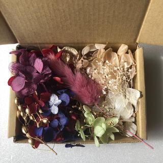 ⑧ 訳あり ドライフラワー プリザーブドフラワー 紫陽花 アウトレット品 花材(ドライフラワー)