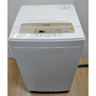 アイリスオーヤマ(アイリスオーヤマ)の洗濯機 ホワイト コンパクト シャンパンゴールドパネル 間口の広いドラム(洗濯機)
