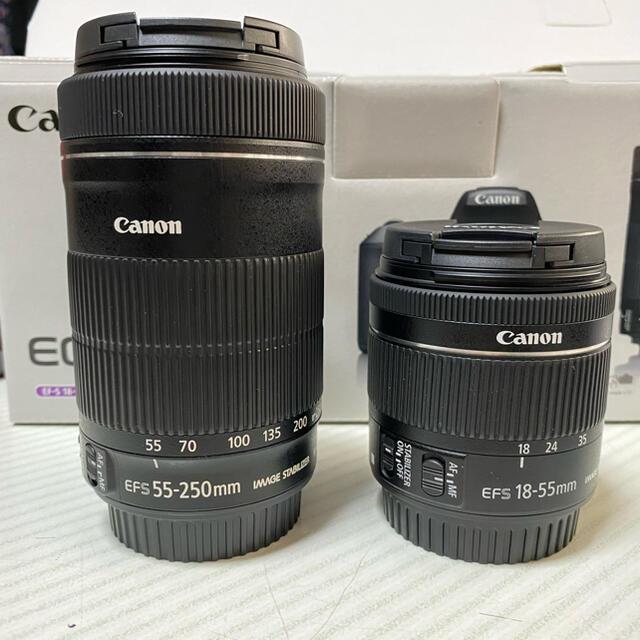 Canon(キヤノン)のCanon EOS KISS X9 Wズームキット BK スマホ/家電/カメラのカメラ(デジタル一眼)の商品写真