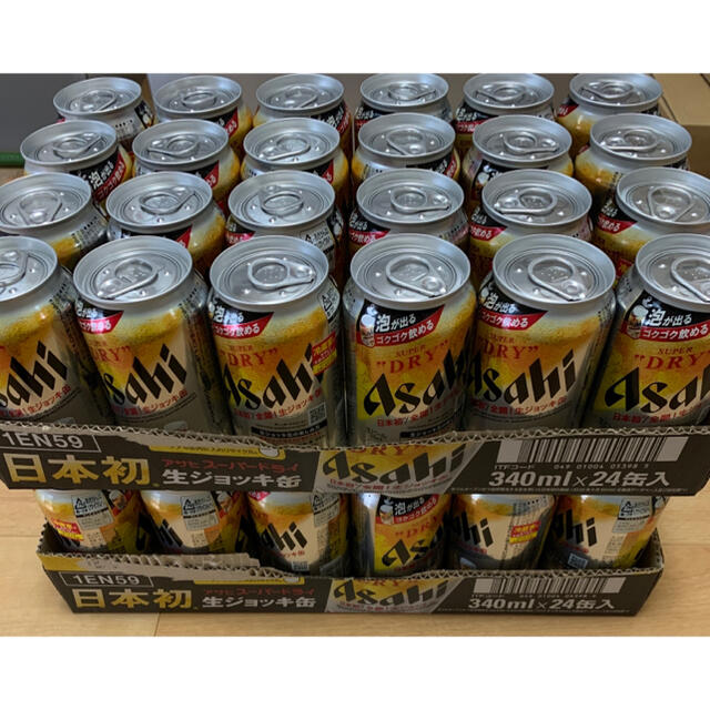 アサヒ(アサヒ)のアサヒ スーパードライ 生ジョッキ缶 340ml×36缶 食品/飲料/酒の酒(ビール)の商品写真