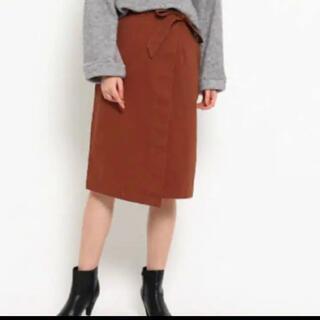 オゾック(OZOC)のツイル 巻きスカート(ひざ丈スカート)