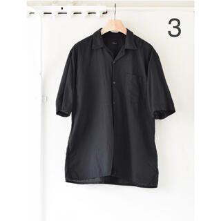 COMOLI - COMOLI 21SS ベタシャン オープンカラーシャツ 黒 サイズ3 新品