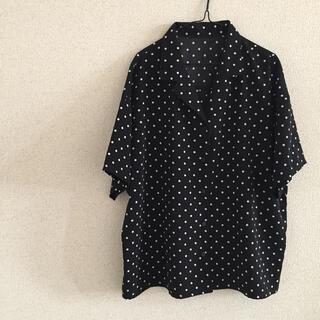 ジーユー(GU)のGU ドット開襟シャツ(シャツ/ブラウス(半袖/袖なし))