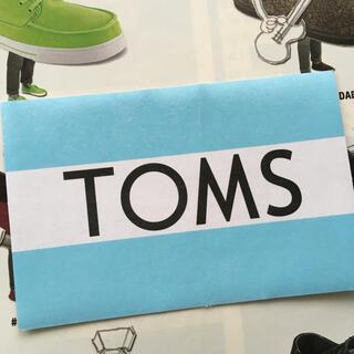 トムズ(TOMS)の『TOMS』トムスUS限定バナーステッカー(スリッポン/モカシン)