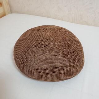ベレー帽 麦わら帽子(ハンチング/ベレー帽)