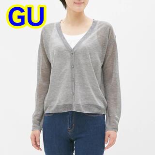 ジーユー(GU)のGU シアーVネックカーディガン(長袖)(カーディガン)