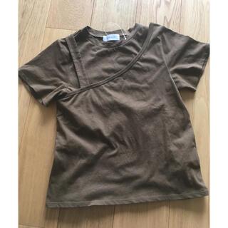 ステュディオス(STUDIOUS)の未使用・アシメトリーTシャツ(Tシャツ(半袖/袖なし))
