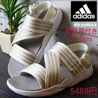 adidas - 新品元箱付き☆adidas☆スポーツ サンダル ホワイト 24.5cm