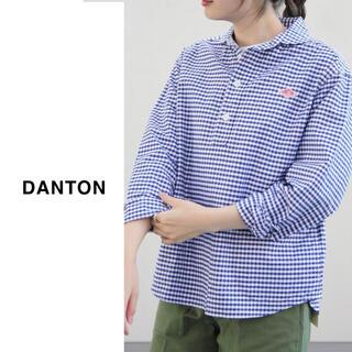 DANTON - DANTON(ダントン)| ラウンドカラープルオーバーチェックシャツ