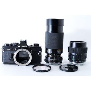 オリンパス(OLYMPUS)のOLYMPUS OM-2 ブラック レンズ2本付【動作確認済・露出計OK】(コンパクトデジタルカメラ)
