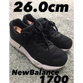 New Balance - New Balance1700 ブラック ヌバックレザー 26.0cm
