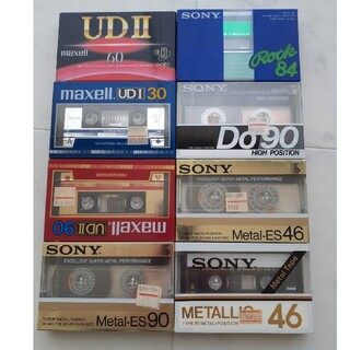 ソニー(SONY)の【希少】カセットテープ8本セット未開封(その他)
