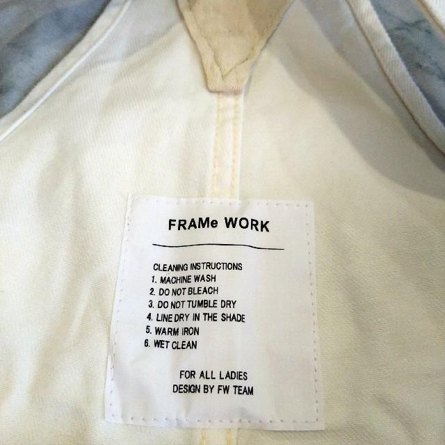 FRAMeWORK(フレームワーク)のFRAMeWORKフレームワークデニムサロペット38 レディースのパンツ(サロペット/オーバーオール)の商品写真