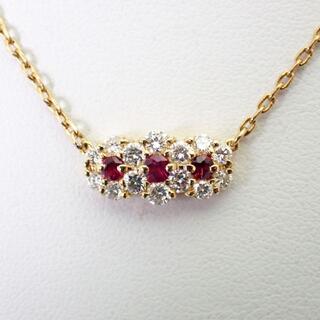 NINA RICCI - ニナリッチ K18 ルビー ダイヤモンド ペンダント [g399-1]