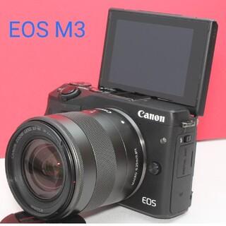キヤノン(Canon)のWi-Fi内蔵⭐キャノン EOS M3⭐⭐高性能⭐美品⭐大人気⭐(ミラーレス一眼)