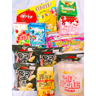 お菓子詰め合わせ カップヌードル付(菓子/デザート)