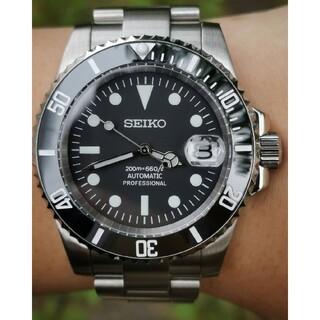 セイコー(SEIKO)のセイコー サブマリーナ デイト ブラック ビンテージ セラミック カスタム (腕時計(アナログ))