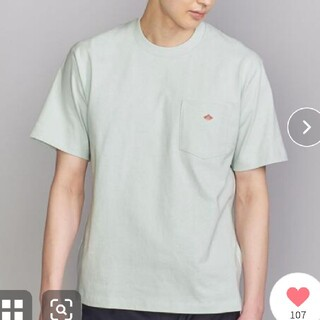ダントン(DANTON)の未使用 定価6380円DANTON LOGO TEE/Tシャツ ライトブルー42(Tシャツ/カットソー(半袖/袖なし))