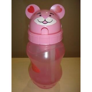 かわいい クマ ピンク ストロー付 水筒(水筒)