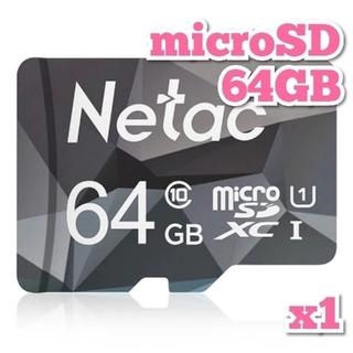 マイクロSDカード 64GB 1枚 class10 UHS-I NTGR