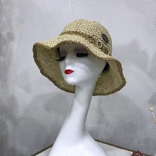 シャネル(CHANEL)の美品 CHANEL 帽子4(麦わら帽子/ストローハット)