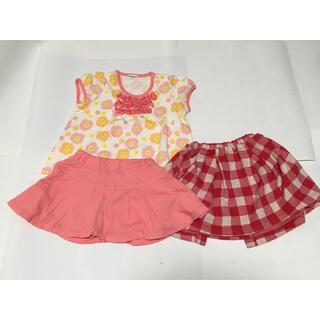 コンビミニ(Combi mini)のコンビミニ Tシャツ、ショートパンツ、スカートセット(女の子)90サイズのセット(Tシャツ/カットソー)