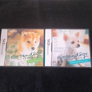 ニンテンドーDS(ニンテンドーDS)のニンテンドッグス 柴犬&チワワセット(家庭用ゲームソフト)
