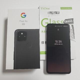 Google - Google Pixel4a  5G Black 128GB本体+ガラスフィルム