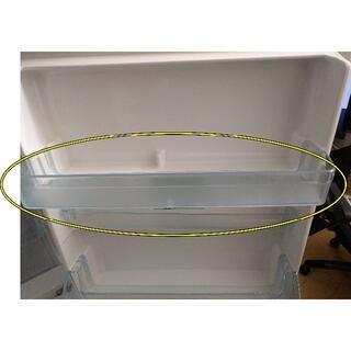 ムジルシリョウヒン(MUJI (無印良品))の冷蔵庫内扉上部ケース(無印良品3ドア冷蔵庫 M-R25B用)(冷蔵庫)